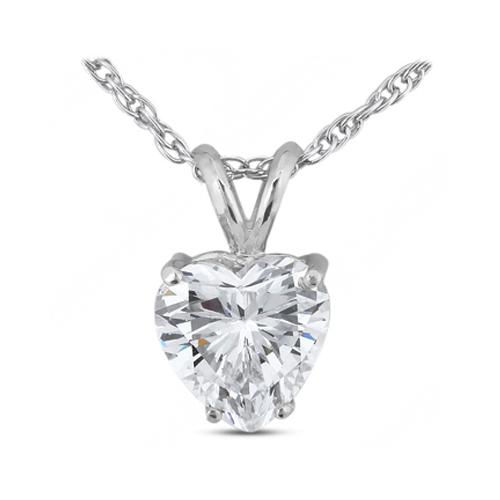 Diamond Traces 2.39 Carat G-VS2 Excellent AGI Cert Heart Natural Diamond 18K White Gold Prong Set Classic Solitaire Pendant at Sears.com
