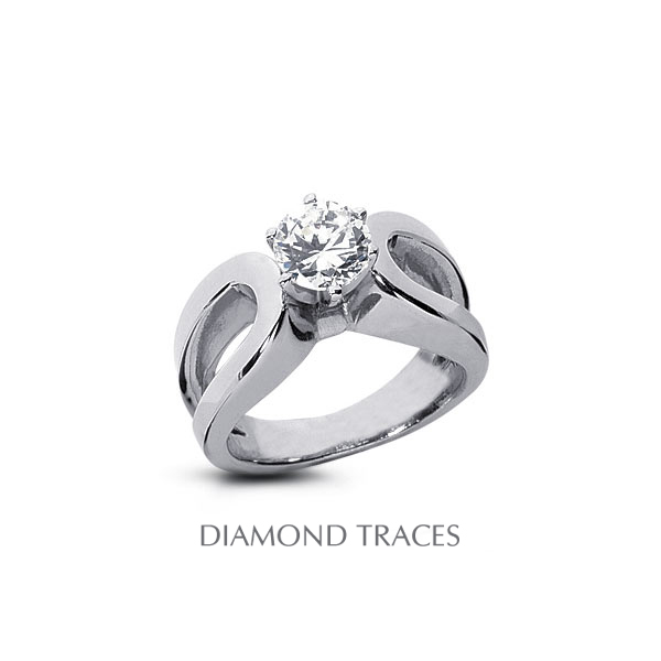 Diamond Traces 0.50 Carat Total D-SI1 Excellent AGI Cert Round Natural Diamond 18K White Gold Split Band Solitaire Ring at Sears.com