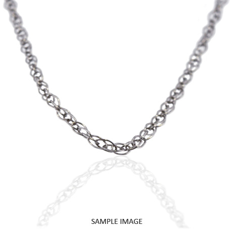 18k White Gold Cable Chain