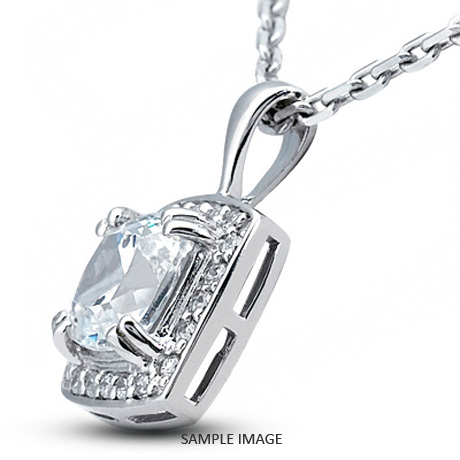 Platinum gallery design with halo pendant 126 carat total e vs2 platinum gallery design with halo pendant 126 carat total e vs2 square radiant cut diamond aloadofball Image collections