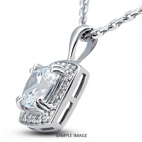 Platinum gallery design with halo pendant 126 carat total e vs2 platinum gallery design with halo pendant 126 carat total e vs2 square radiant cut diamond audiocablefo