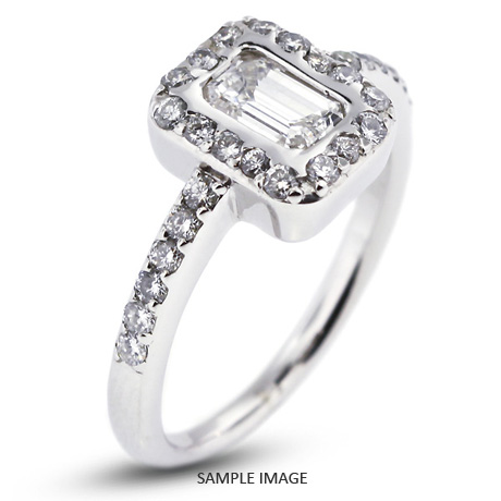 14k White Gold Semi-Mount Engagement Ring with Diamonds (0.65ct. tw.)