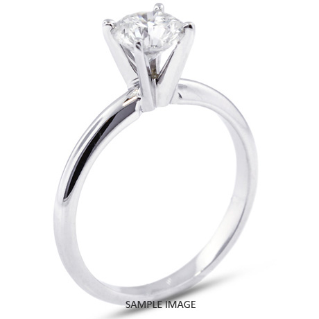 Platinum Classic Style Solitaire Ring With 1 36 Carat F Si1 Round