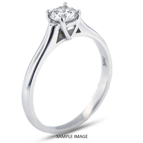 Platinum Cathedral Style Solitaire Ring With 0 73 Carat H Si1 Round Diamond