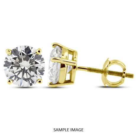martini diamond gold stud certified cut pid yellow princess ct earrings prong