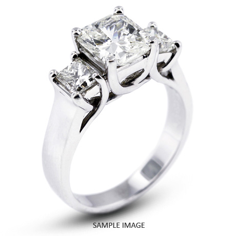 150a42006 Platinum Classic Style Trellis Three-Stone Engagement Rings with 1.62 Total  Carat H-VS1