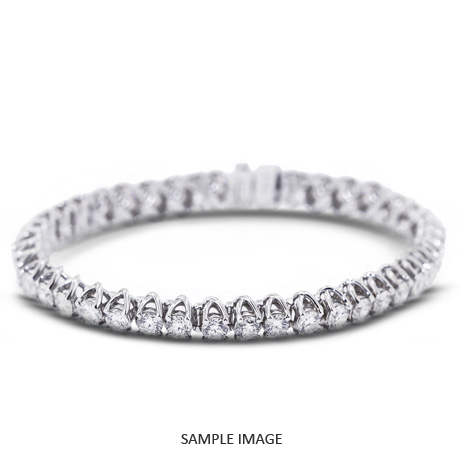 5.00 Carat Total Round Diamonds Trellis Style Tennis Bracelet in 14k White Gold (G-SI1)