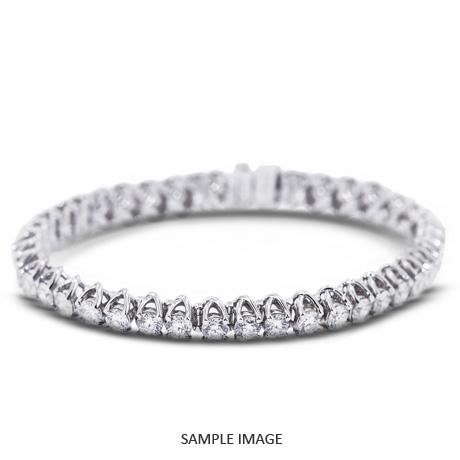 5.00 Carat Total Round Diamonds Trellis Style Tennis Bracelet in 18k White Gold (F-VS2)