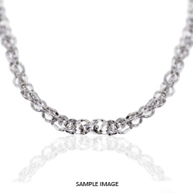 14k White Gold Cable Link Chain