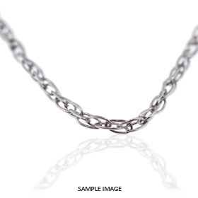 18k White Gold Carded Rope Chain