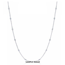 1.40 Carat tw. 14 Round Brilliant Diamonds set in 18k White Gold Diamond by the Yard Necklace (F-VS2)