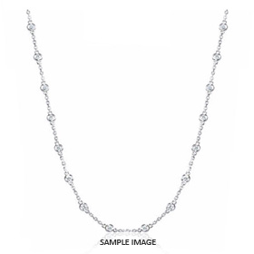 1.80 Carat tw. 18 Round Brilliant Diamonds set in 18k White Gold Diamond by the Yard Necklace (G-SI1)