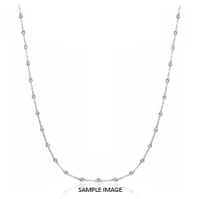 3.00 Carat tw. 30 Round Brilliant Diamonds set in 18k White Gold Diamond by the Yard Necklace (G-SI1)