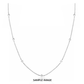 2.10 Carat tw. 7 Round Brilliant Diamonds set in 18k White Gold Diamond by the Yard Necklace (G-SI1)