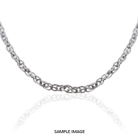 14k White Gold Oval Cable Chain
