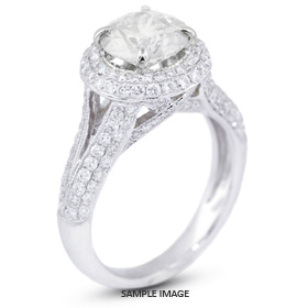 18k White Gold Split Shank Semi-Mount Engagement Ring with Diamonds (1.43ct. tw.)