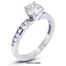 14k White Gold Semi-Mount Engagement Ring with Diamonds (0.39ct. tw.)