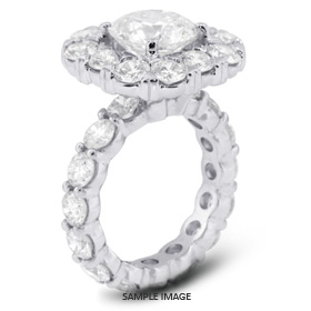14k White Gold Semi-Mount Engagement Ring with Diamonds (7.15ct. tw.)