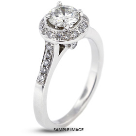 14k White Gold Accents Engagement Ring with 2.03 Total Carat G-SI3 Round Diamond
