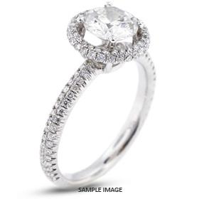 18k White Gold Two-Diamonds Row Semi-Mount Engagement Ring with Diamonds (0.65ct. tw.)