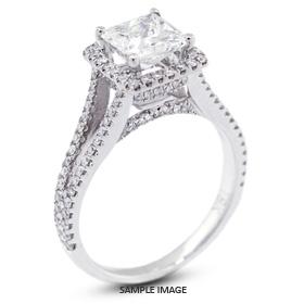 18k White Gold Split Shank Semi-Mount Engagement Ring with Diamonds (0.68ct. tw.)