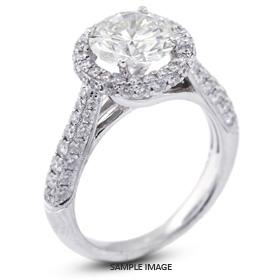 18k White Gold Three-Diamonds Row Semi-Mount Engagement Ring with Diamonds (1.37ct. tw.)