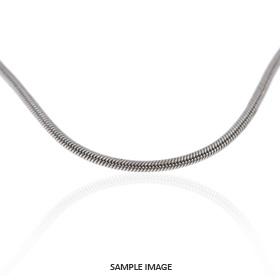 14k White Gold Snake Chain