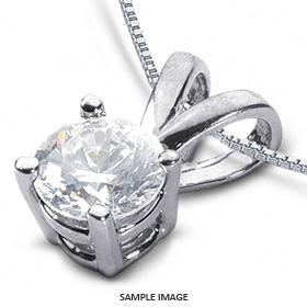 14k White Gold Classic Style Solitaire Pendant 0.94 carat I-SI1 Round Brilliant Diamond