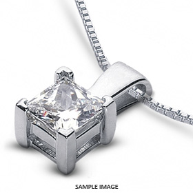 18k white gold classic style solitaire pendant 253 carat g vs1 18k white gold classic style solitaire pendant 253 carat g vs1 princess cut diamond from diamond traces aloadofball Gallery