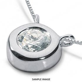 14k White Gold Solid Style Solitaire Pendant 1.01 carat D-VS2 Round Brilliant Diamond