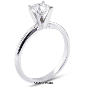 18k White Gold Classic Style Solitaire Ring with 0.94 Carat F-SI3 Round Diamond