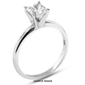 Platinum  Classic Style Solitaire Ring with 1.01 Carat I-VS2 Square Radiant Diamond