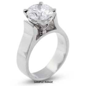 18k White Gold Cathedral Style Solitaire Ring with 3.11 Carat F-SI2 Round Diamond