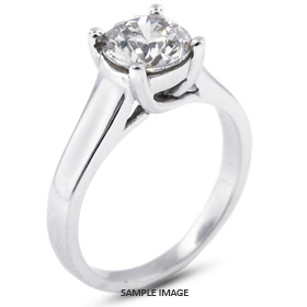 14k White Gold Trellis Style Solitaire Ring with 2.11 Carat G-SI2 Round Diamond