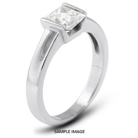 Platinum  Tension Style Solitaire Ring with 0.72 Carat H-VS1 Princess Diamond