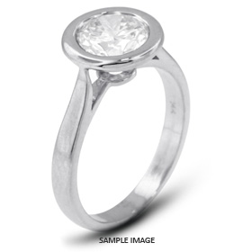 Platinum  Halo Style Solitaire Ring with 2.44 Carat F-VS2 Round Diamond