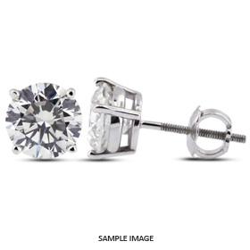 1.44 Carat tw. Round Brilliant Diamond Basket Style Stud Earrings 14k White Gold (G-VS2)
