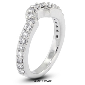 14k White Gold Classic Style Wedding Band with 0.70 Total Carat F-VS2 Round Diamond