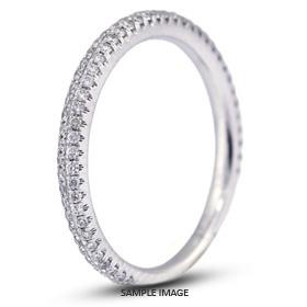 18k White Gold Nouveau Style Wedding Band with 0.40 Total Carat G-VS2 Round Diamond