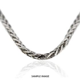 14k White Gold Wheat Chain