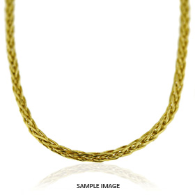 18k Yellow Gold Wheat Chain